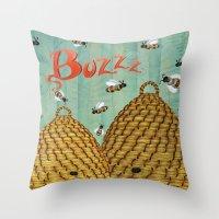 Buzzz Throw Pillow