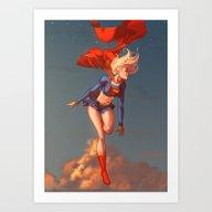 Supergirl II Art Print