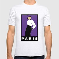 Paris Mens Fitted Tee Ash Grey SMALL