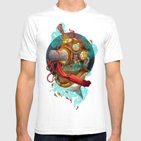 Deep Sea Diver Mens Fitted Tee White SMALL