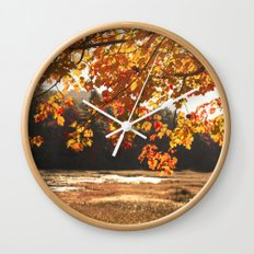 Autumn Sparkle Wall Clock