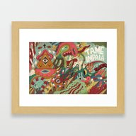 Framed Art Print featuring Tame Impala by Uberkraaft