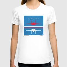 No128 My TOP GUN minimal movie poster Womens Fitted Tee White SMALL