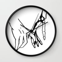 HOLDING HANDS Wall Clock