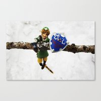 Legend Of Zelda Link Sno… Canvas Print