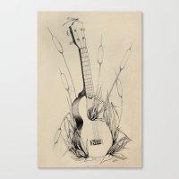 Ukulele Canvas Print