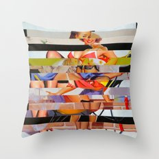 Glitch Pin-Up: Gwen Throw Pillow