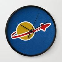 Blue Spaceman Wall Clock