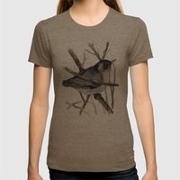 Grey Birdy 2 Womens Fitted Tee Tri-Coffee SMALL