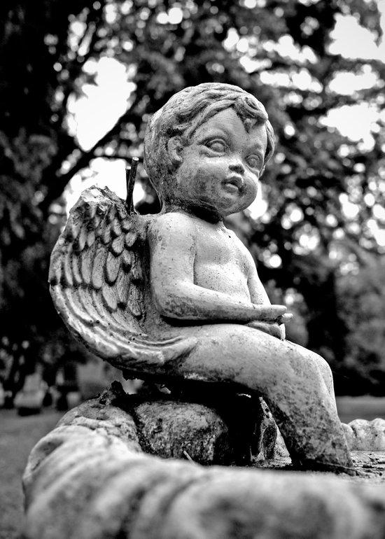 Graveyard cherub Art Print