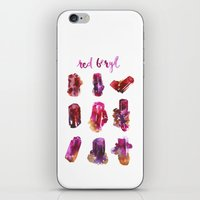 Red Beryl Specimens iPhone & iPod Skin