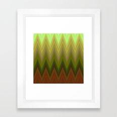 Soil chevron Framed Art Print