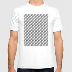 White Kawung Pattern SMALL White Mens Fitted Tee