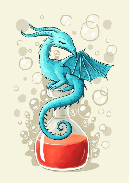Dragon Potion Art Print