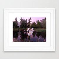 reflective pond Framed Art Print