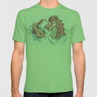 Koi Transformation Mens Fitted Tee Grass SMALL