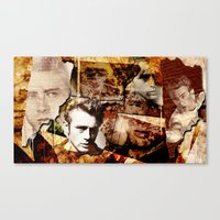 Jame Dean - Grunge Style… Canvas Print