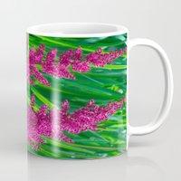 Hot Pink Flowers Mug