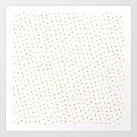 Gold Triangles Art Print