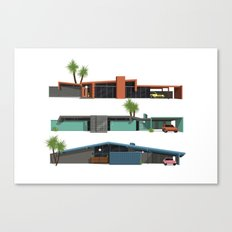 Original Mid Century Modern Houses Canvas Print