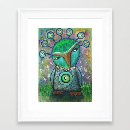Alien Owl Framed Art Print
