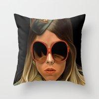 Scout Girl Throw Pillow