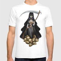 Lady Reaper Mens Fitted Tee White SMALL