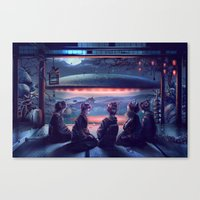 Night Guest  Canvas Print