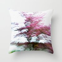 Abstract Pink Flowers 3 Throw Pillow
