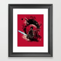 Bad Side Of The Samurai Framed Art Print