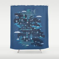 Land Of The Blue Mountai… Shower Curtain