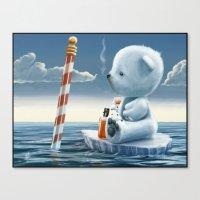 Derek The Depressed Bear Canvas Print