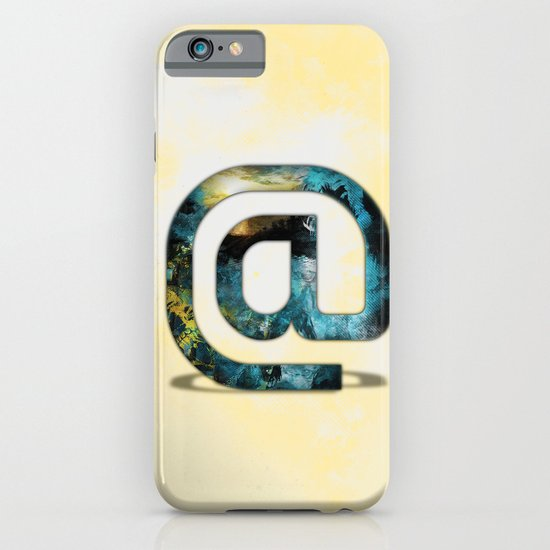 At Sign {@} Series - Silom Typeface iPhone & iPod Case