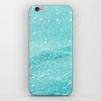 Glitter Turquoise iPhone & iPod Skin