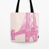 Williamsburg Bridge Illu… Tote Bag