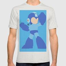 Mega Man(Smash)Black Mens Fitted Tee Silver SMALL