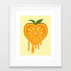 Love Orange Framed Art Print