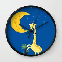The Delicious Moon Chees… Wall Clock