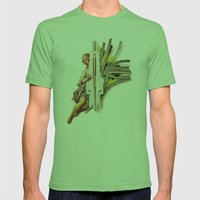 Sparklette | Collage Mens Fitted Tee Grass SMALL