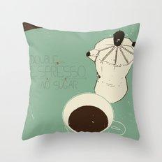 espresso coffee Throw Pillow