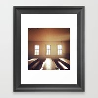 The Old Schoolhouse Framed Art Print
