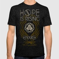 HOPE IS RISING Mens Fitted Tee Tri-Black SMALL