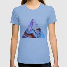 Agate, a vivid Metamorphic rock on Fire Womens Fitted Tee Athletic Blue SMALL