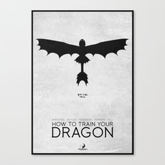 How To Train Your Dragon - minimal poster Canvas Print