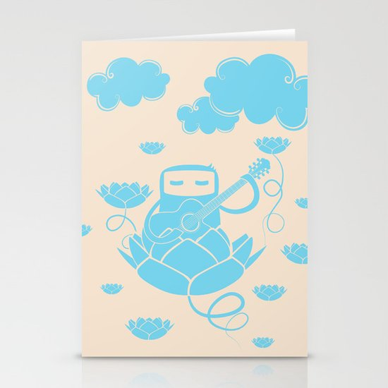 Lotus&Guitar Stationery Card