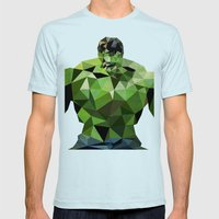 Polygon Heroes - Hulk Mens Fitted Tee Light Blue SMALL