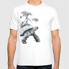 Tortoise Tree - Growth Mens Fitted Tee SMALL White