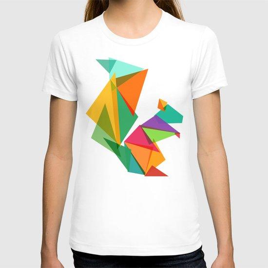 Fractal geometric Squirrel T-shirt