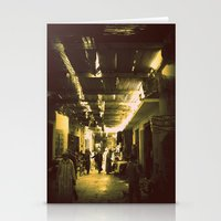 Marrakesh street life Stationery Cards