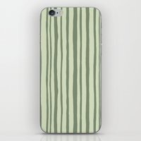 Into the Woods green Stripes iPhone & iPod Skin